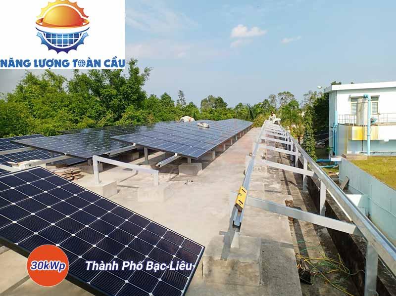 Lắp đặt điện năng lượng mặt trời hòa lưới 30KWp Bạc Liêu