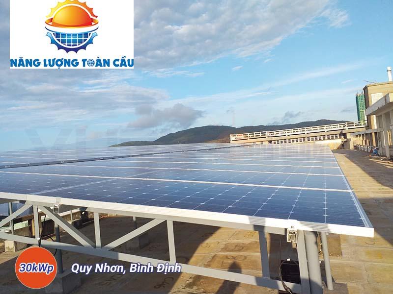 hệ thống điện mặt trời hòa lưới 30kwp tại Bình Định