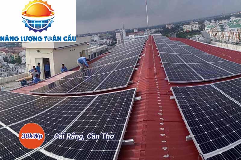 hệ thống điện mặt trời 30kwp tại Cần Thơ