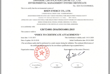 Chứng nhận ISO14001