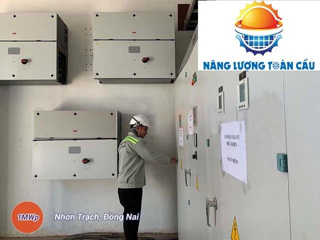 hệ thống điện mặt trời 1MWp tại Đồng Nai