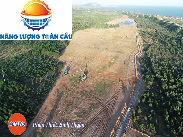 nhà máy điện mặt trời công suất 40MWp tại Bình Thuận