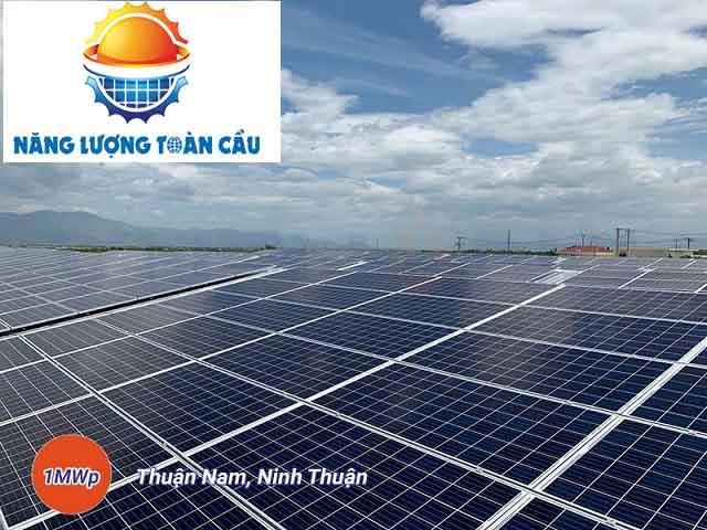 Thi công hệ thống điện mặt trời hòa lưới 1MWp Ninh Thuận