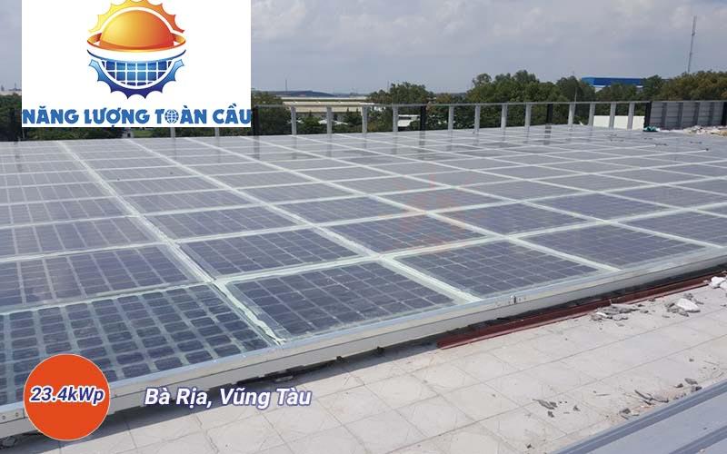 hệ thống điện mặt trời hòa lưới 24kWp tại Vũng Tàu
