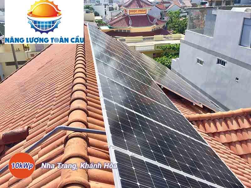 hệ thống điện mặt trời hòa lưới 10kwp tại khánh hòa