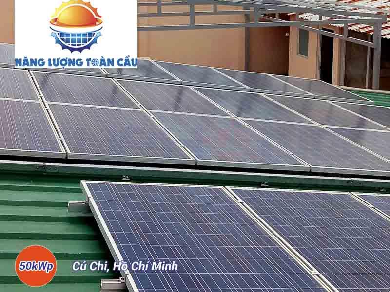 hệ thống điện mặt trời hòa lưới 50 KWP tại TP. HCM