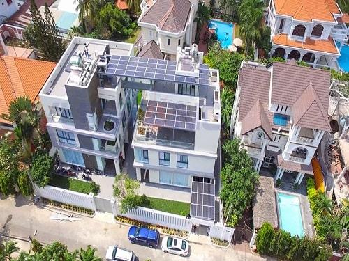 điện mặt trời 20kwp cho biệt thự