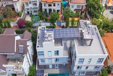 Thi công điện mặt trời 20Kwp cho biệt thự